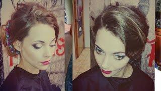 Romantic prom hairstyle for medium long hair. Романтическая прическа на выпускной на длинные волосы(Подписывайтесь на канал, чтобы не пропустить новые видео ;) https://www.youtube.com/user/sniganka?sub_confirmation=1 Давайте дружить!..., 2015-04-20T20:35:18.000Z)