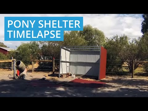 Pony Shelter Timelapse in Lower Chittering, WA 6084