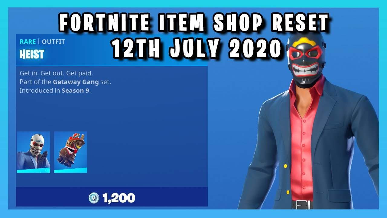 *NEW* HEIST SKIN EDIT STYLE!!! (Item Shop Reset 12th July 2020)