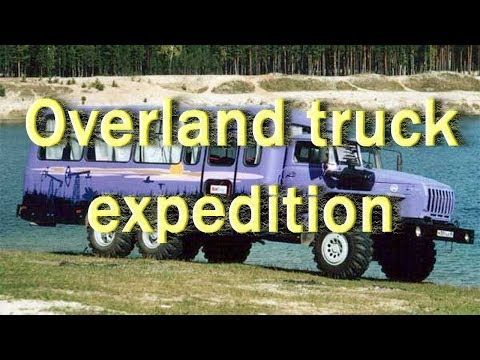 Expedition by overland truck. Extreme Adventure Offroad across Siberia.