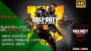 [4K] Especial, nuestro lado del directo en COD BO4 (Zombies) con Xbox España |MondoXbox