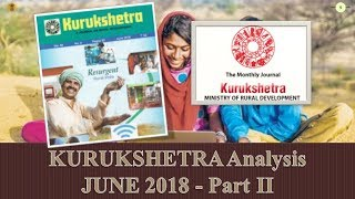 Mission UPSC - KURUKSHETRA JUNE 2018 SUMMARY/ANALYSIS Part - 2/2