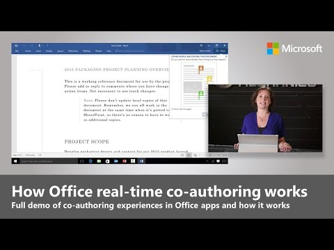 Office 2016 Real-time Co-authoring. How-it-works Demo