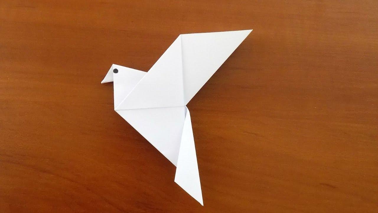 птица оригами голубь схема для детей оригами из бумаги ...