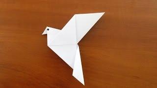 птица оригами голубь схема для детей оригами из бумаги