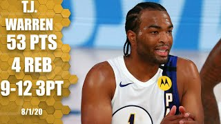 <b>TJ Warren</b> GOES OFF for 53 points vs. 76ers | 2019-20 NBA Highlights