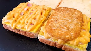 Korean Best toast, Deep cheese bacon toast, Deep Cheese Potato Toast, Korean street food