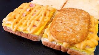 한국 대표 토스트! 이삭토스트, 딥치즈 베이컨, 딥치즈 포테이토, Korean Best toast, Deep cheese bacon toast, Korean street food