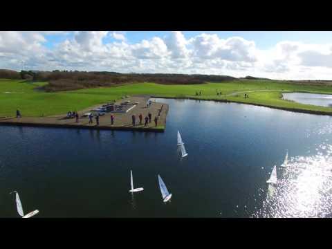 RC model Laser sailboats at Irvine beach park pond 5th Mar 2017