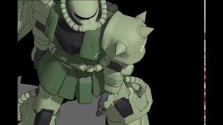 ネタmmd ms 06fザクが本気でdaisuke踊ってみた
