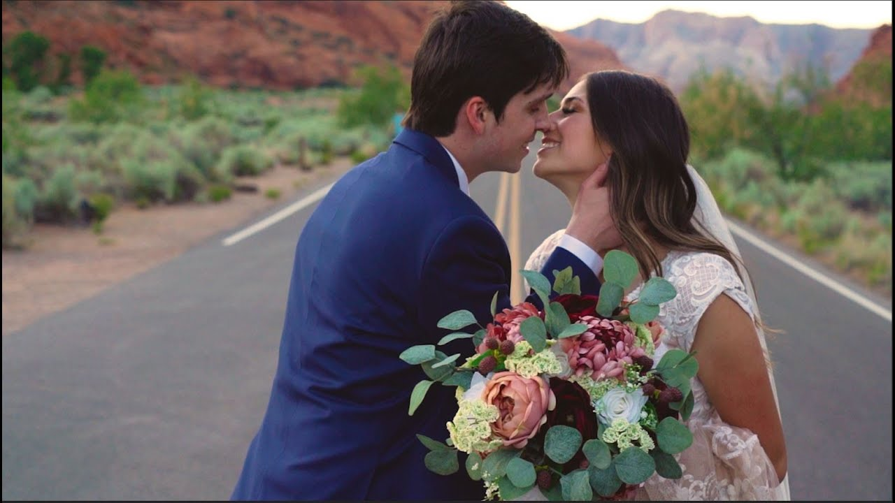 Morgan & Scott First Look | Snow Canyon | AW Creates