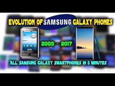 Evolution of Samsung Galaxy Phones - All Samsung Galaxy Smartphones in 5 Minutes (2009-2017)