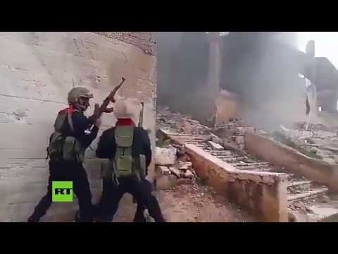 Instructores militares rusos entrenan a las fuerzas en Siria