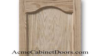 Unfinished Red Oak Cathedral Arched Inset Panel Cabinet Door