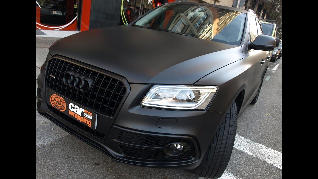 Impresionante Audi Q5 de Blanco a Negro Mate Terminator! Car Wrapping by Pronto Rotulo - YouTube