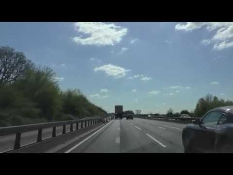 Driving On The M5 Motorway From J7 Worcester To J30  Exeter Services, England