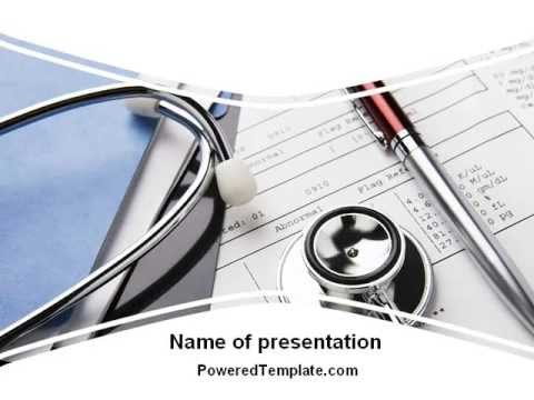 Medical Record For Analysis PowerPoint Template by PoweredTemplate