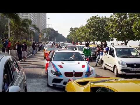 Supercar Parade 2014 - Marine Drive,Bombay.