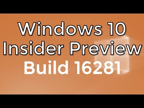 Windows 10 Insider Preview Build 16281