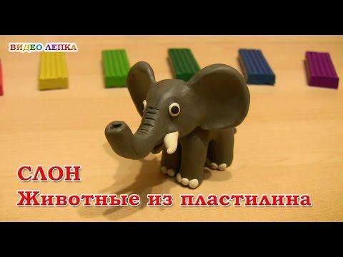 Как сделать слона из пластилина