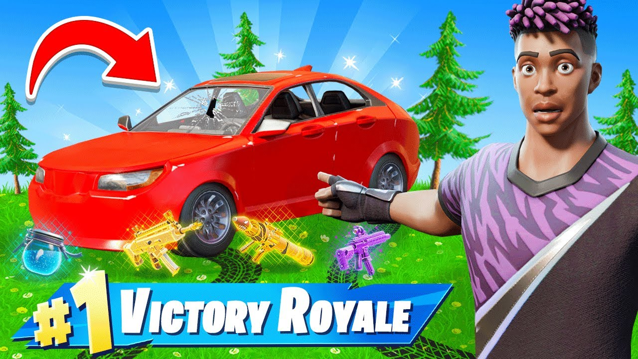 The CARS *ONLY* CHALLENGE in Fortnite!