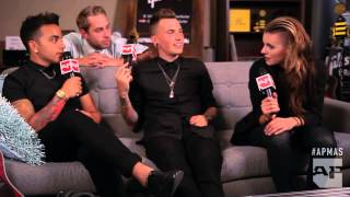 APMAs 2015: Tyler Carter pops up in PVRIS' post-win interview in the Gibson Artist Lounge