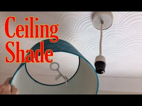 How To Change A Ceiling Light Shade, Remove A Ceiling Light Uk