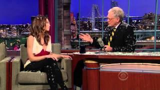 Jessica Biel - David Letterman December 7, 2010