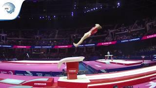 Margaux DAVELOOSE (BEL) - 2018 Artistic Gymnastics Europeans, junior qualification vault