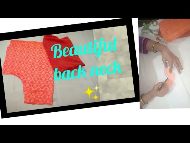 08c61b2cc6717 Easy beautiful back neck design (cutting   stitching )  FashionFashion