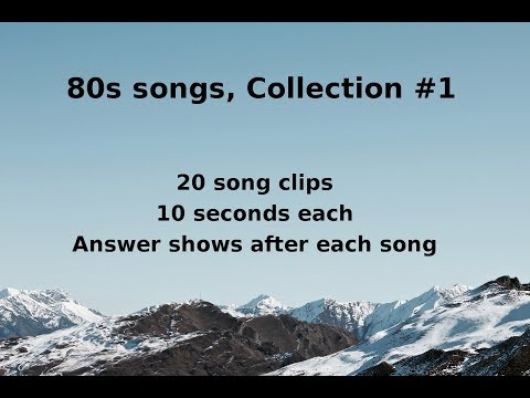 Name That Song! 80s Music Quiz #1 (QNTSQ)