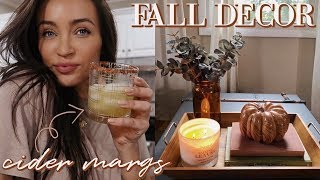 SIMPLE FALL DECOR + CIDER MARGARITAS 🍁🥃