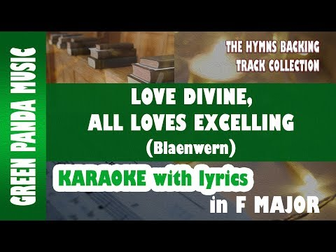 Love divine, all loves excelling - Blaenwern melody - Karaoke/Backing Track from The Hymns BTC