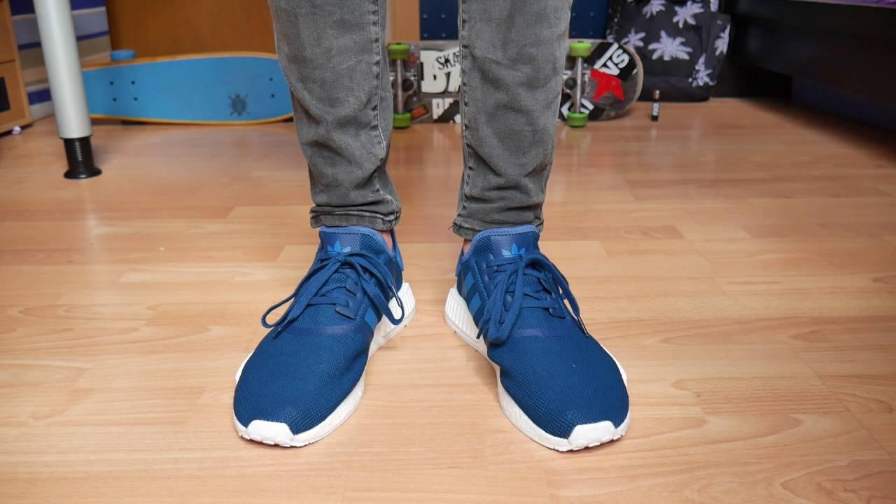 Adidas NMD R1 BLUE - On Feet - YouTube 95d26ea9021c