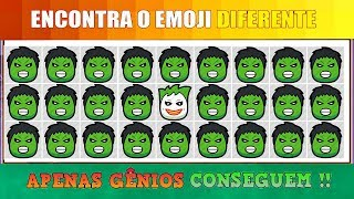 Encontre o Emoji Diferente !! Heróis - Part 3