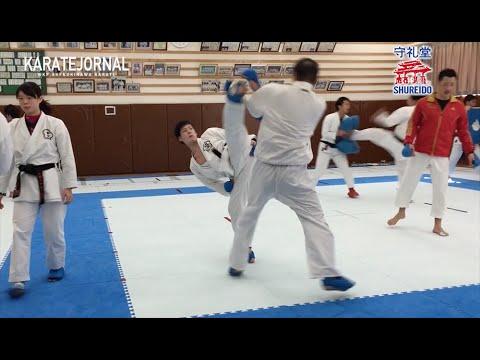 近大空手部の練習(オフ期) 松久功vs西村拳  MATSUHISA KO v NISHIMURA KEN at KINKI UNIVERSITY KARATE CLUB
