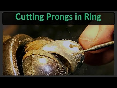 Cutting Prongs In Domed Ring