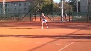 Детский теннис. Джулия Лебедева 8 лет