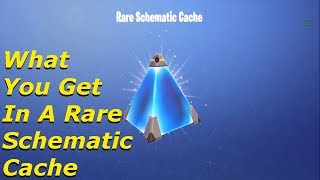 Fortnite - What You Get In A Rare Schematic Cache!!
