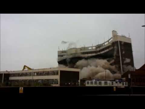 Doncaster Office Block Explosive Demolition