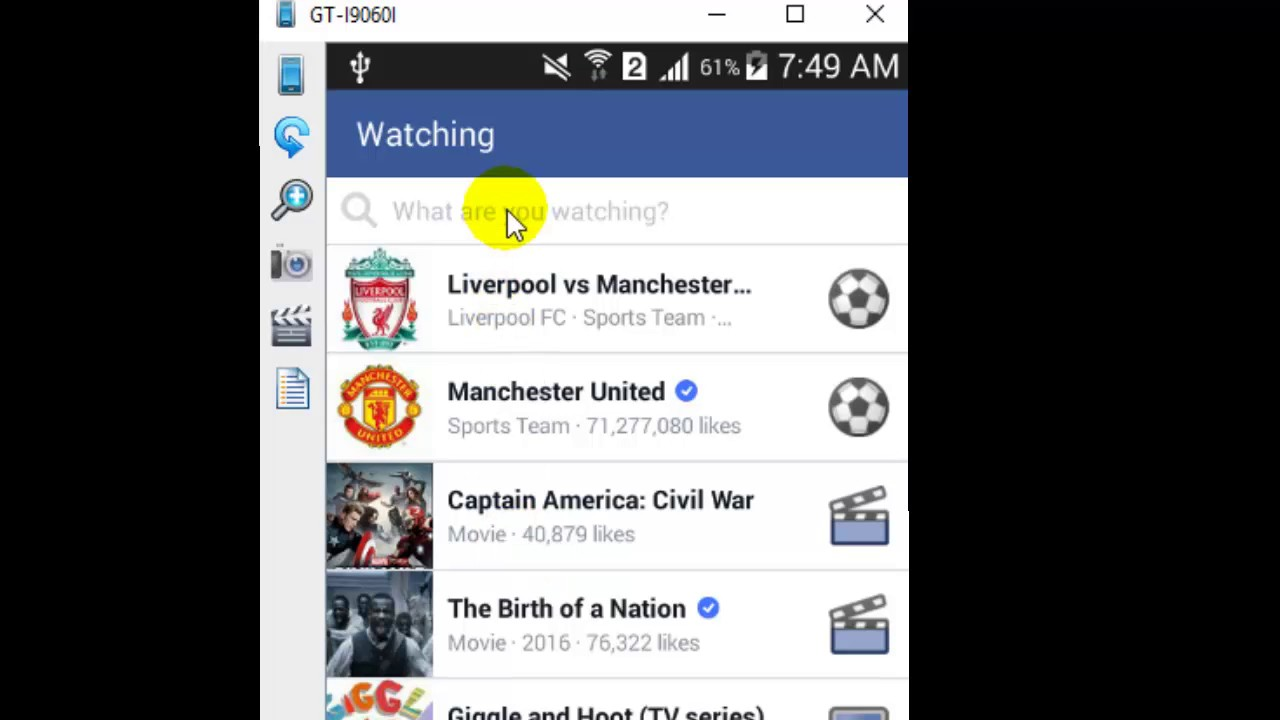 How to update watching movie status in Facebook Android app