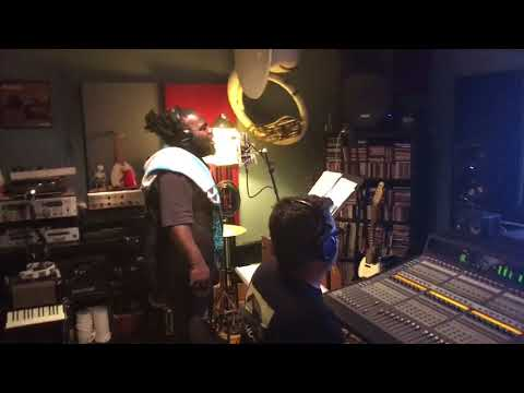 """Mr. SuPrize voicing """"Take Me 2 Di Water"""" for Ladee Dred's """"The Holy Herb"""" album"""