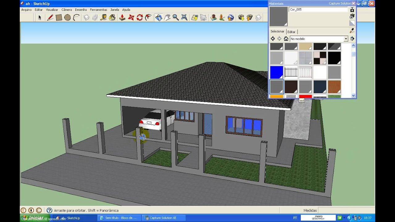 Como decorar uma casa no sketchup part 1 youtube for Decorar casas online 3d