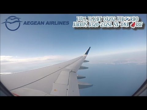 Aegean Airlines Airbus A320 Sharklets SX-DNA  Full Flight OA202 ATH-RHO