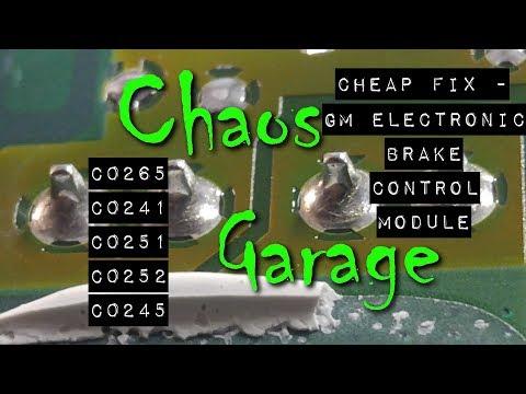 Cheap Fix: DIY EBCM Repair – Fix Brake and ABS Lights (C0265, C0241, C0251, C0252, C0245)