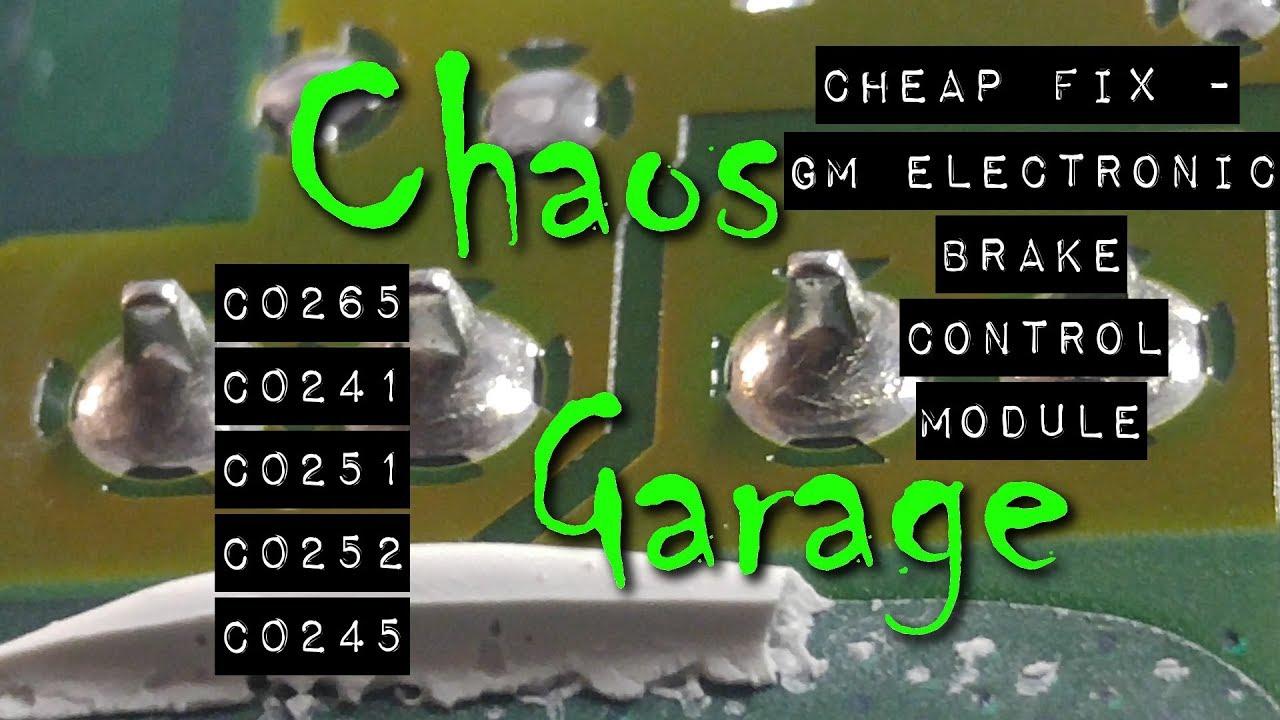 cheap fix: diy ebcm repair - fix brake and abs lights (c0265, c0241, c0251,  c0252, c0245)
