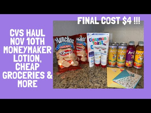 Cheap Groceries, Free Lotion, Cards & More| CVS Extreme Couponing Haul |Nov 10th!!