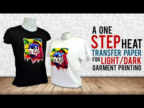 Heat Transfer Paper Tutorial - (Light And Dark Transfer Paper) For Garment Printing