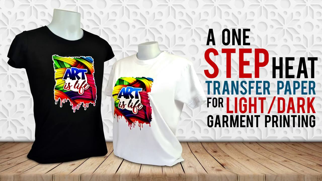 A One Step Heat Transfer Paper For Dark Light Garment Printing