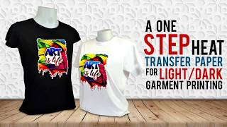 One Step Heat Transfer Paper for Dark/Light Garment Printing - Heat Transfer Paper Tutorial